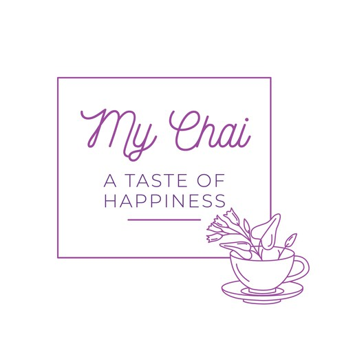 Modern and feminine tea company logo