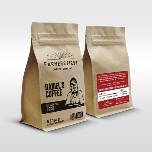 Hot Stamp Concept for Farmers First Coffee Packaging