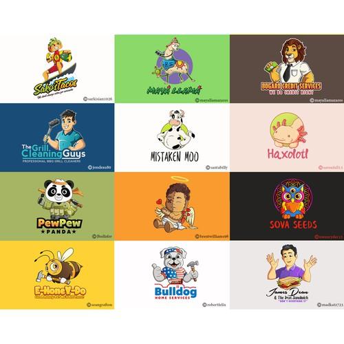 Logo mascots - Grid 6