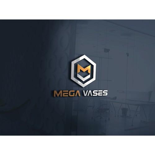 strong logo concept for MEGA VASES