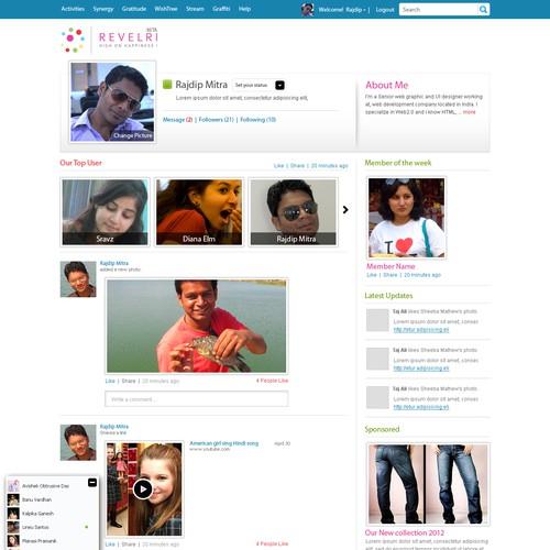 profile page design
