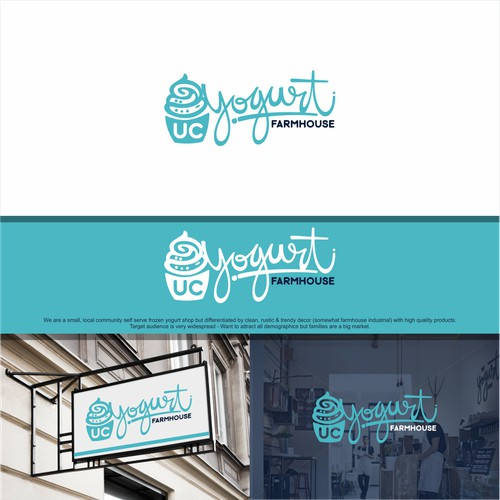 UC Yogurt needs a creative, rustic modern professional logo!