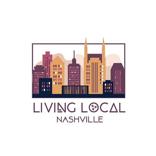 logo for living local nashville