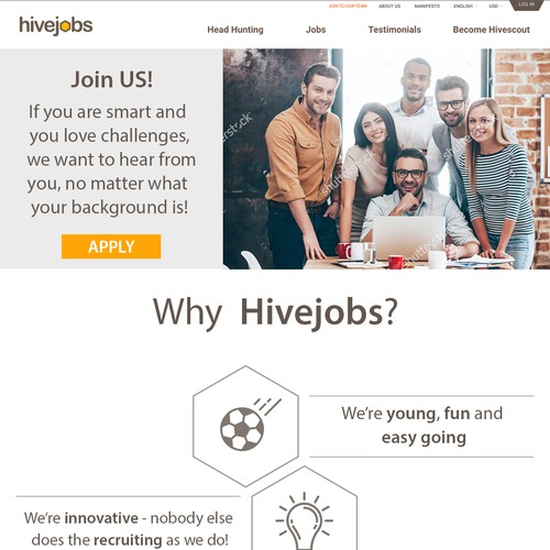 Career Page for Hive Jobs