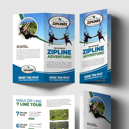 brochure design for zipline company in Maui