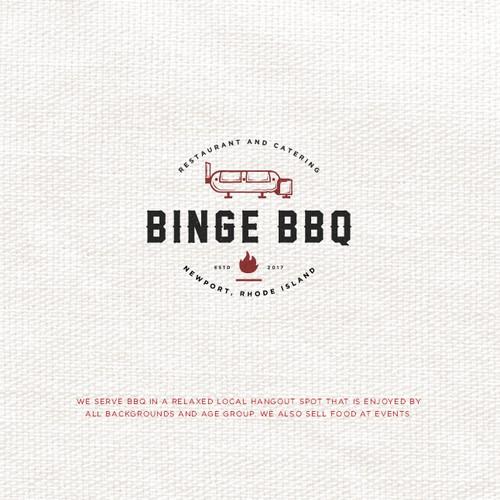 Logo Design Entry for Binge BBQ