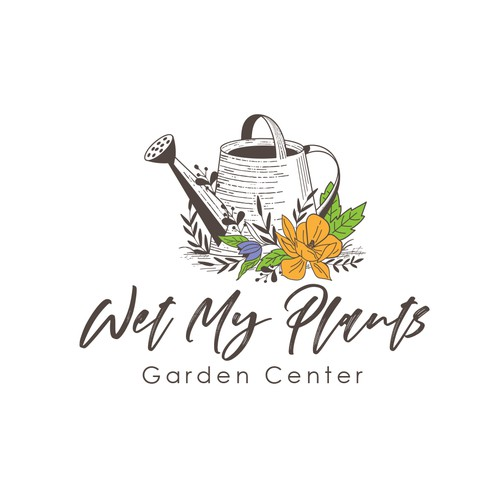 Wet My Plants - Garden Center Logo