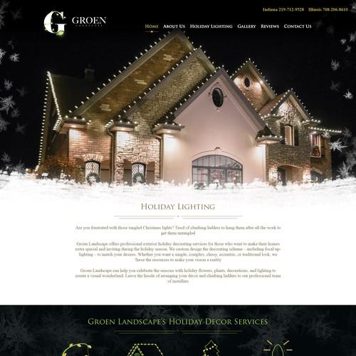 Christmas lighting website design