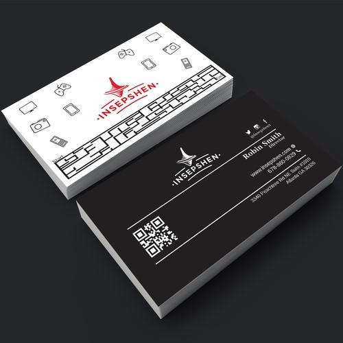 Business Card design for Insepshen.