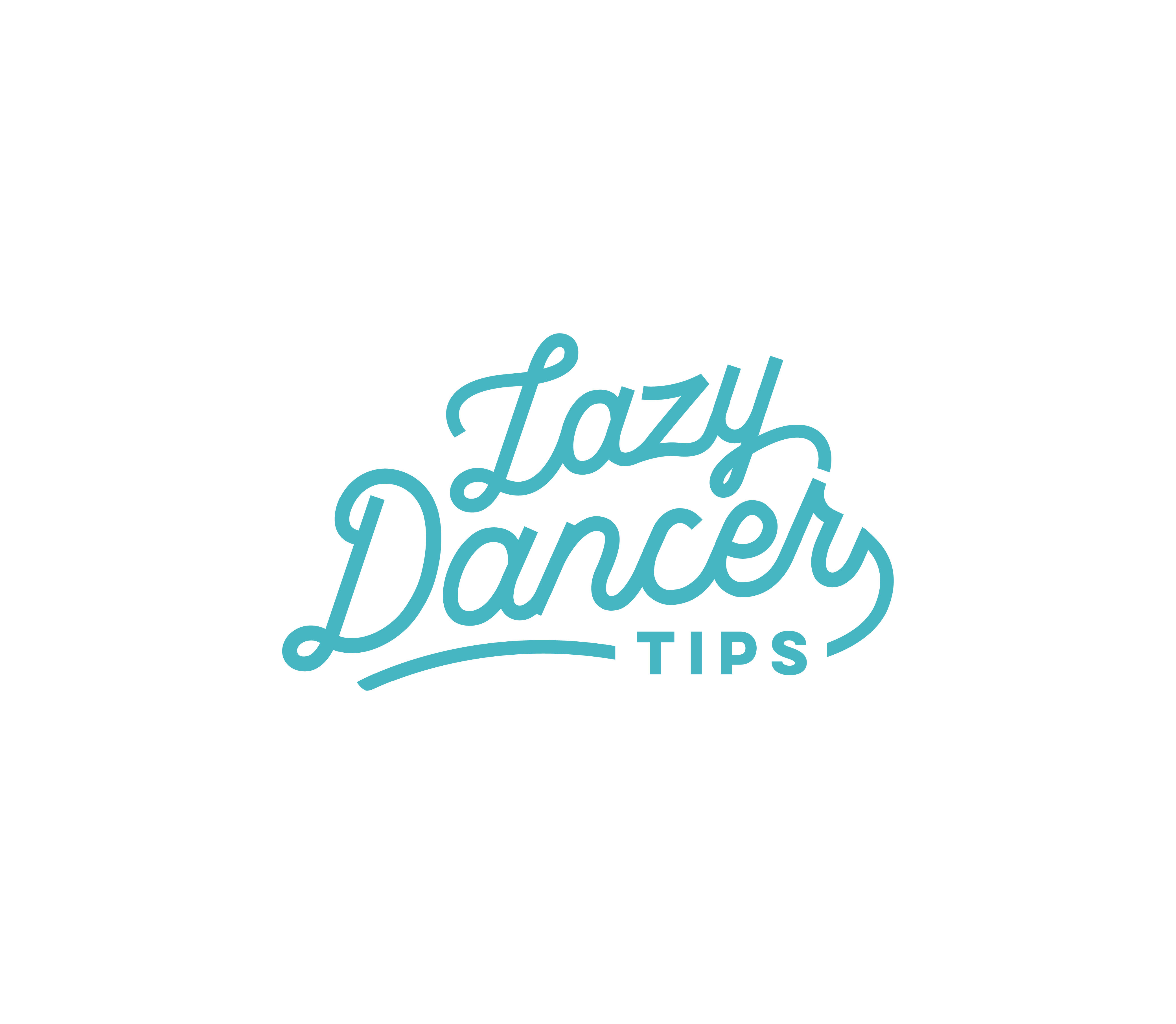 Lazy Dancer Tips   Ballet - Fitness - Fun. A logo the represents passion for dance and happiness
