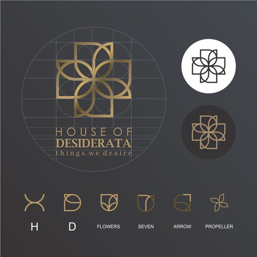 luxury logo and hidden meaning for magazine online company