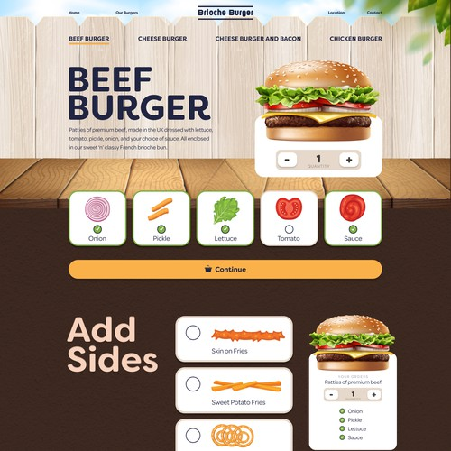 Food Restaurant Burger website homepage