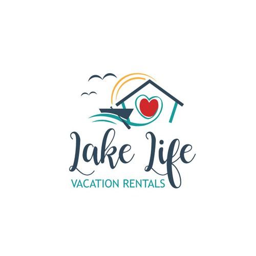 Fun, simple lake life logo