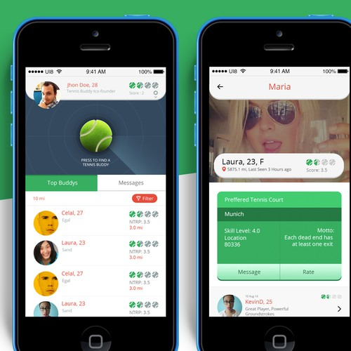 GUARANTEED Be the one to give our Tennis Buddy App an iOS7 redesign!