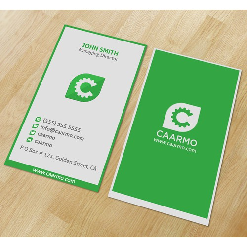 Need to build a eye-catching business card