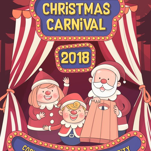 christmas carnival flyer