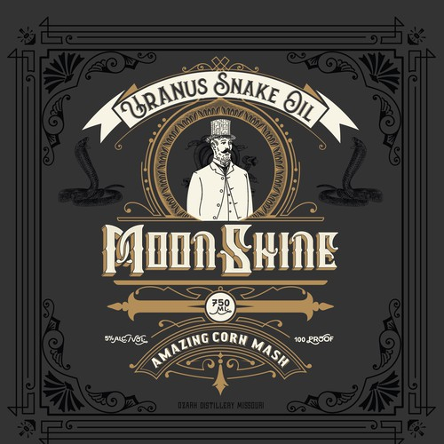 MoonShine Bottle Label