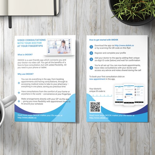 Brochure design — Medical consultation
