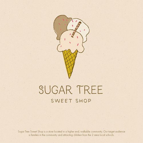 Hand draw logo for Ice cream shop