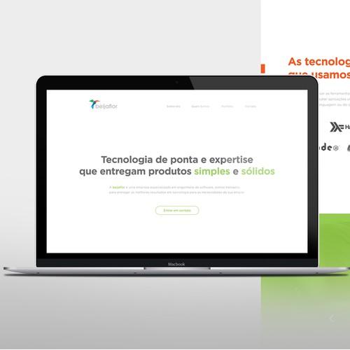Minimalist and Typography focused Homepage for Beija Flor