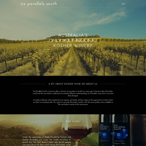 Design a modern, on-trend site for a new Australian winery