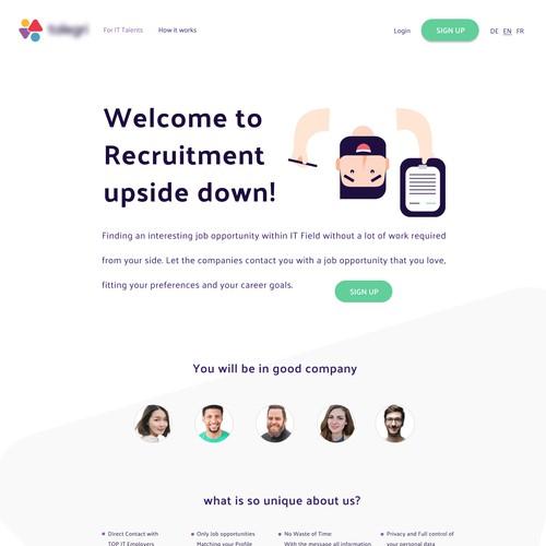 Webdesign for Recruitment Company