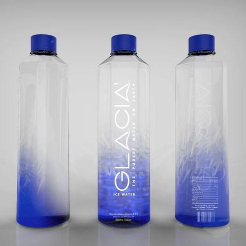 Winner label for Glacia' water