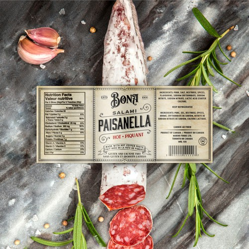 Salami label design