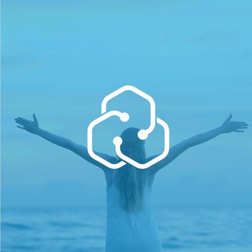 Healtcare software logo concept