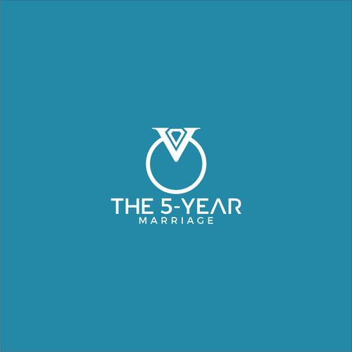 simple logo design for 5 year marriage