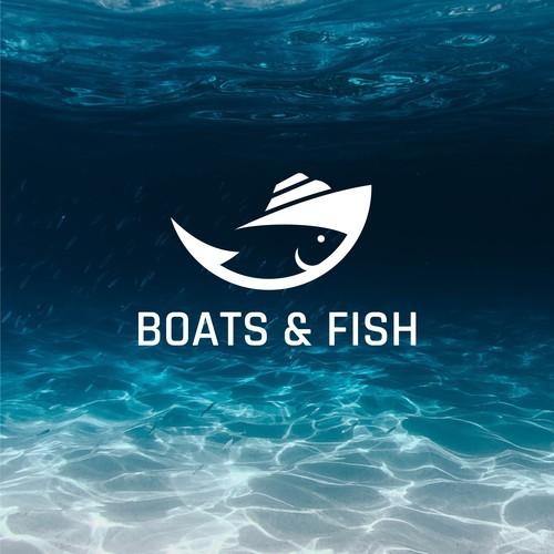 boat+ fish concept