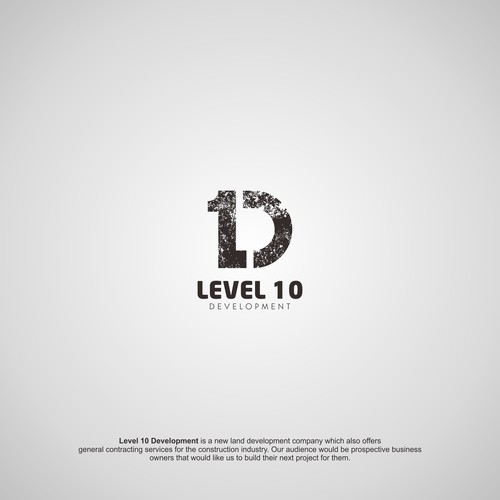 Bold Logo for Level 10 Development Company