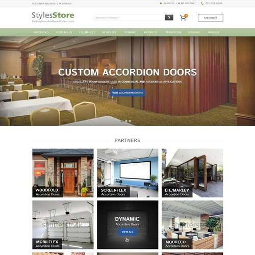 Space Saving Company Website Design