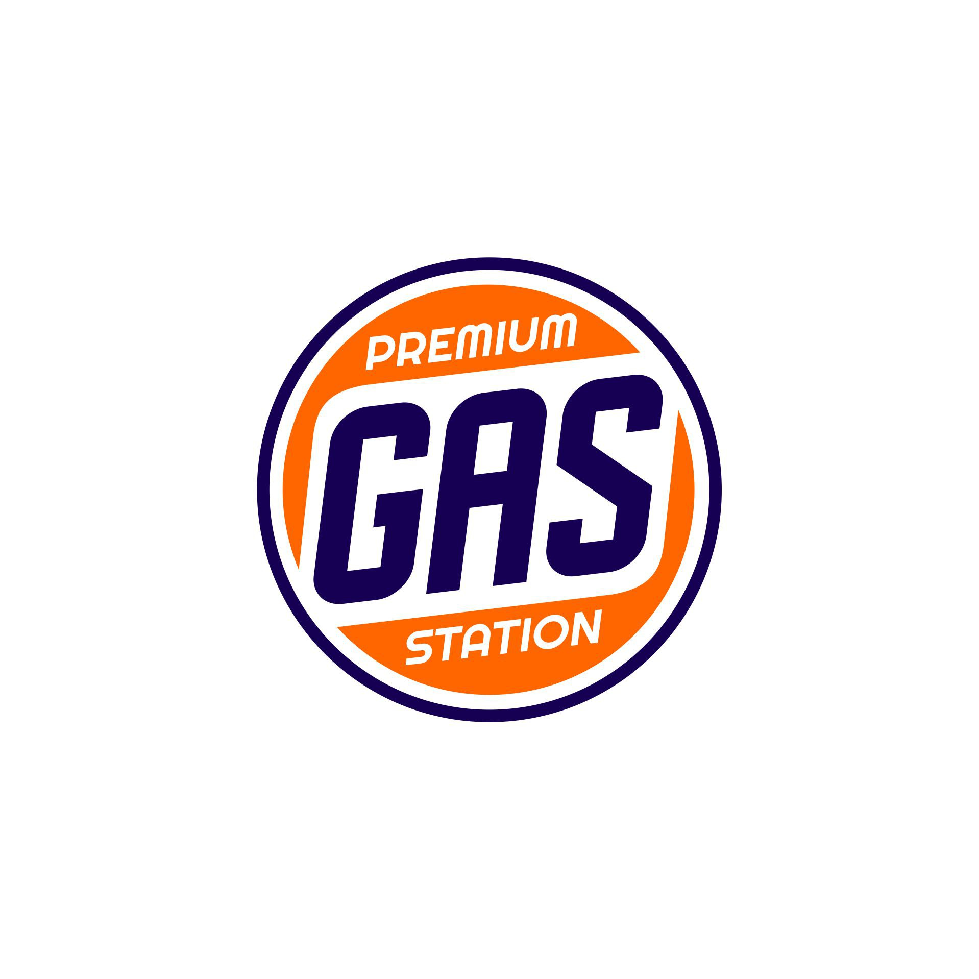 Vintage Gas Pump Lense Graphic Design