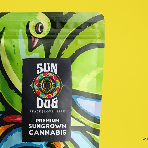 Packaging design for Sungrown Cannabis