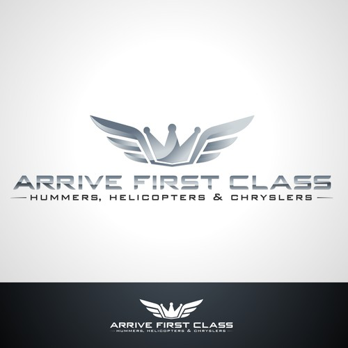 logo for Arrive First Class - Hummers, Helicopters & Chryslers