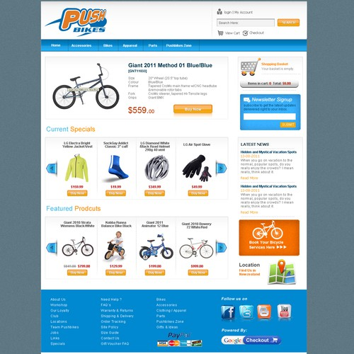 bikes shopping cart design