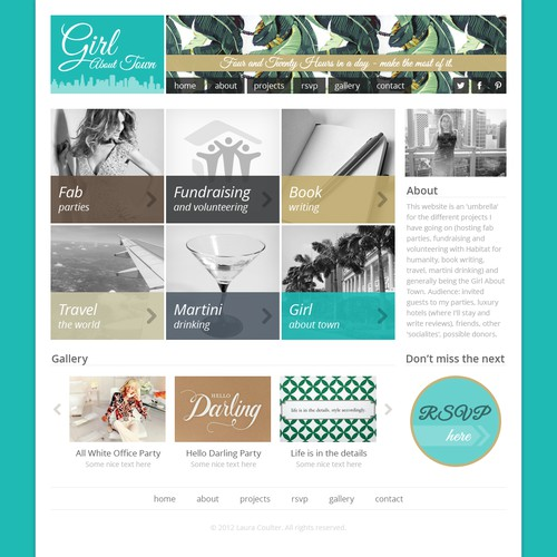 Girl About Town needs a new website design