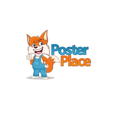 Poster Place character mascot