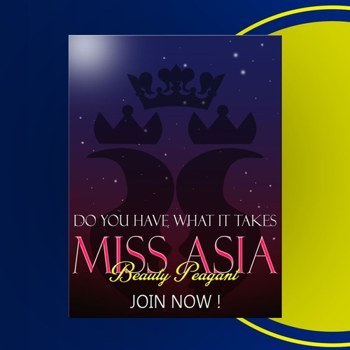 Poster MISS ASIA Beauty Peagant