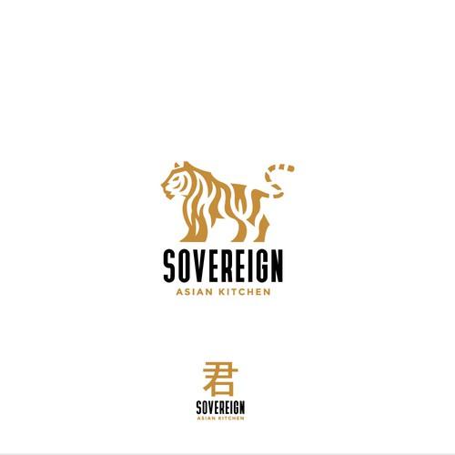 Modern Asian Restaurant Logo