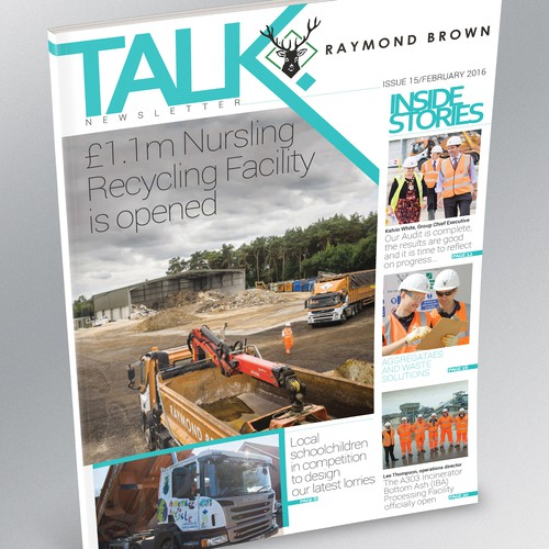 Internal Newsletter/Magazine Cover for Raymond Brown Company.