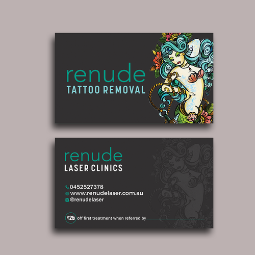 Design business card for tattoo laser removal