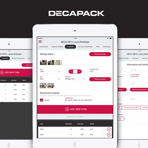 Decapack Moving App