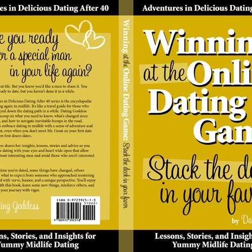 book cover/back for dating book series