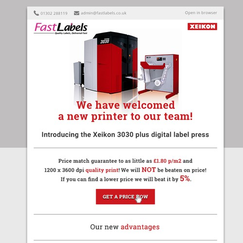 Product launching newsletter design- contest finalist