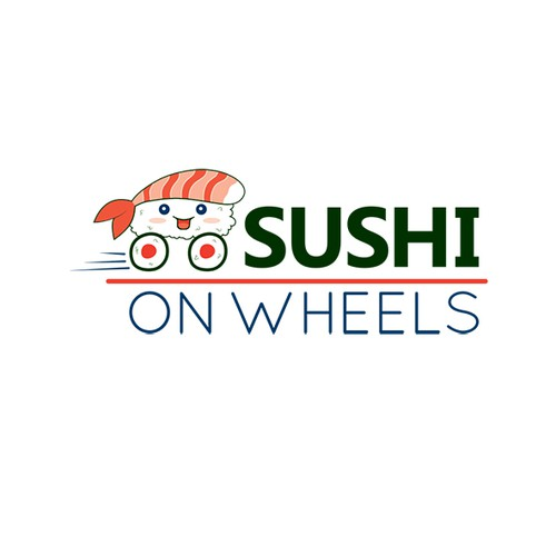 logo concept for sushi takeaway