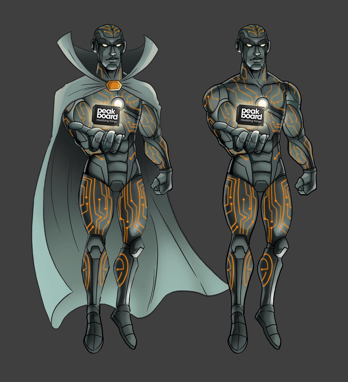 Peakboard Superhero