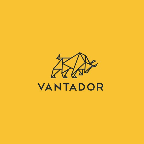 Create a Bold Bull logo from triangles