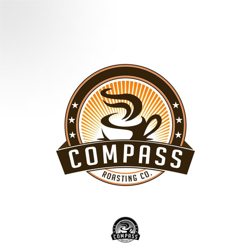 Create the next logo for Compass Roasting Co.